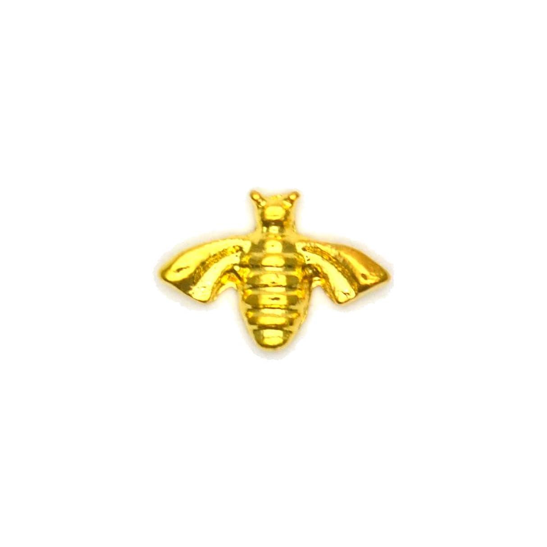 ステレオ汚染無駄なメタルパーツ ミツバチパーツ ゴールド 4個入 蜂 ミツバチ ハニービー