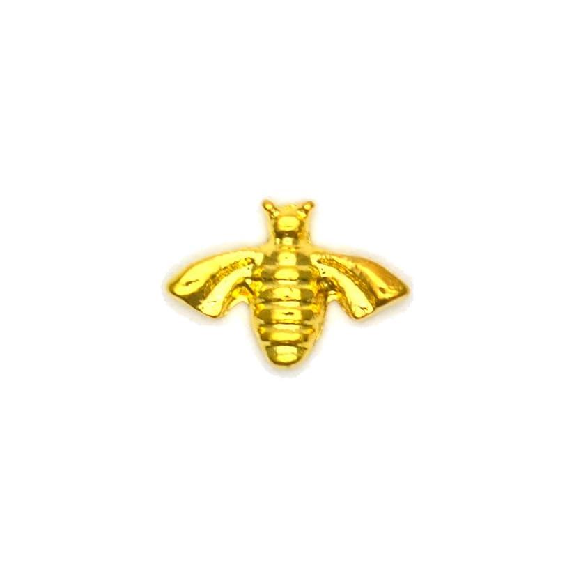 どこにもカルシウム麻痺させるメタルパーツ ミツバチパーツ ゴールド 4個入 蜂 ミツバチ ハニービー
