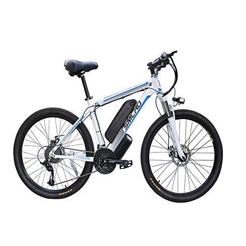 FZYE 26 inch Electric Bikes Bicycl,Mountain Bike Boost Bicycle 48V/1000W Bikes Outdoor Cycling,Blue