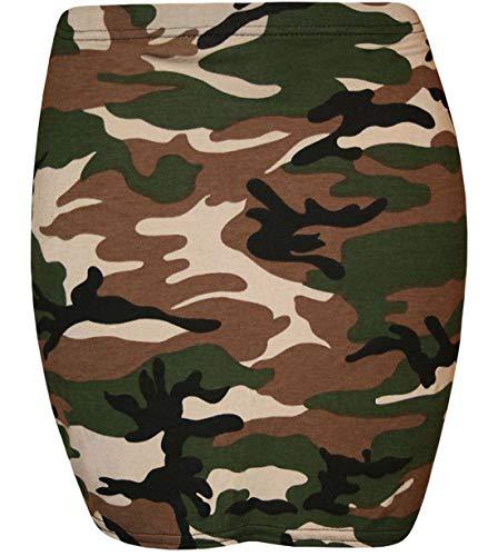 DIGITAL SPOT Damen Minirock, dehnbar, elastisch, figurbetont, bedruckt, Sommer, kurzer Rock Gr. 42/44 DE, camouflage