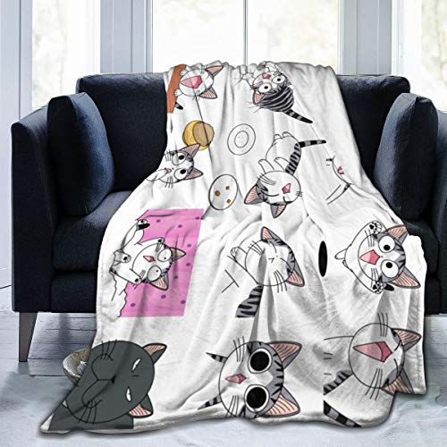 Lphdfoxh1 Chi'S Sweet Home – Manta de franela suave y cálida, Franela., negro, 80