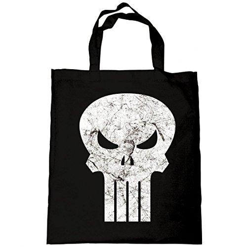 Marvel Comics - Punisher - Tasche Umhängetasche - Jute Beutel - Skull Logo