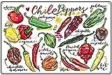 Cartel de metal retro de estaño Chile Peppers Bar Sign Country Farm Cocina pared Decoración del hogar Jardín Letreros Decoración del Jardín 20 x 30 cm