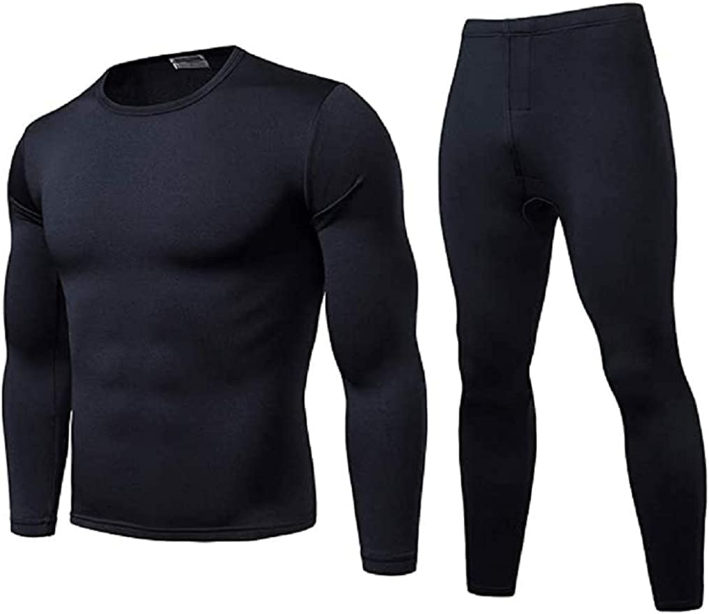 Men's Thermal Top and Bottom Set Underwear Long Johns Base Layer with Soft Fleece Lined
