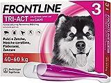 Frontline Triact, 3 Pipette, Cane XL (40 - 60 Kg), Antiparassitario per Cani e Cuccioli di Lunga Durata, Protegge il Cane da Pulci, Zecche, Zanzare, Pappataci e Leishmaniosi, Antipulci 3 Pipette