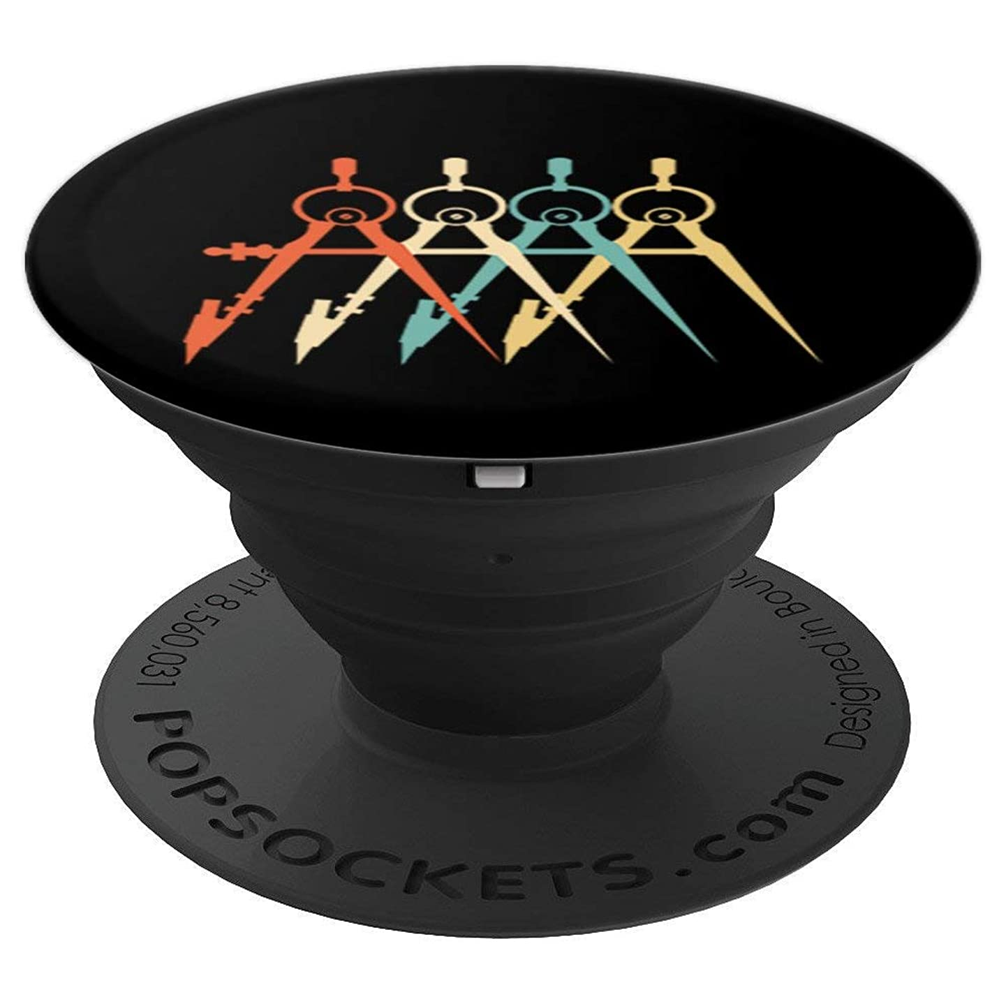 Architects Tools Tee vintage architecture Men Women - PopSockets Grip and Stand for Phones and Tablets