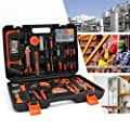 Sotech 114 Pcs Tool Set, General Household Home/Auto Repair Tool Kit with Hammer, Pliers, Screwdriver Set, Wrench Socket Kit and Plastic Toolbox Storage Case - Perfect for Homeowner, Diyer, Handyman from Sotech