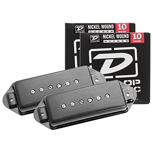 Seymour Duncan Antiquity P90 Dog Ear Pickup Set Black, Neck & Bridge w/ 2 Sets of Strings