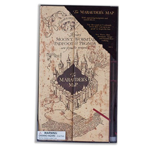 Wizarding World of Harry Potter Electronic Marauder's Map w/ Moving Footprints