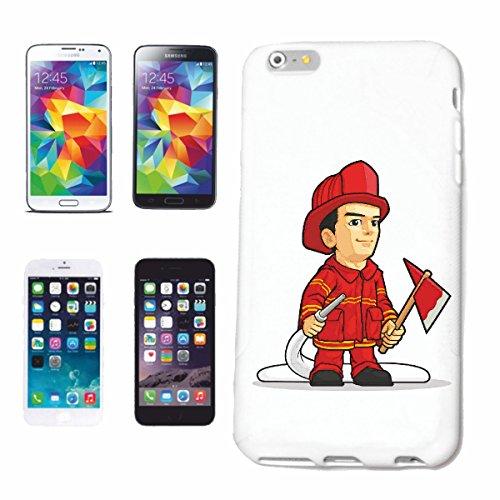 Helene telefoonhoes compatibel met Samsung Galaxy S7 Edge brandweerman met beschermend pak en uitrusting, brandweertruck, wegwerpvoertuigen, vrij wil