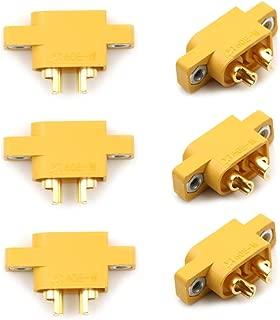 Adasea 6 Pcs XT60E-M Mountable XT60 Male Plug Connector for RC Models Multicopter