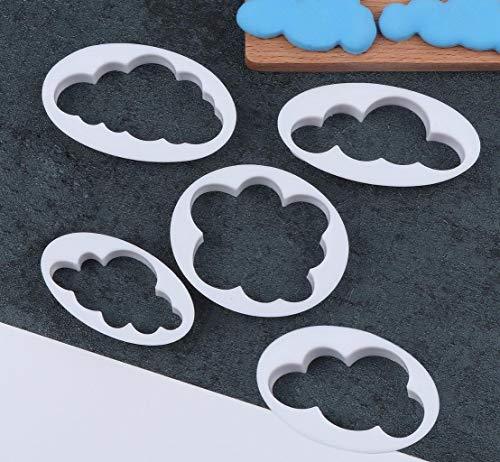 5 pezzi di biscotti fondente che decora muffa della torta ha decorato l'attrezzo del fondente, per la stanza di cottura, la caffetteria, la torta di compleanno o di cerimonia nuziale
