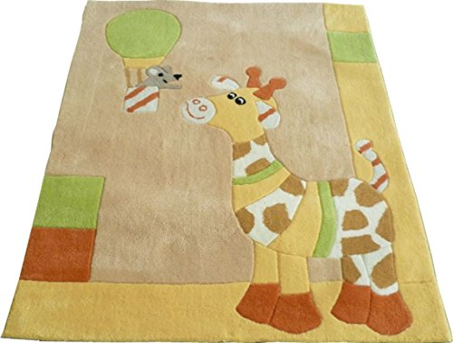 Sterntaler Kinderzimmer Teppich 100x120cm Motivteppich (Polyester: Giraffe Gloria)