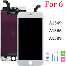 Screen Replacement for iPhone 6, Digitizer Display with LCD Touch Screen Glass Frame Assembly for iPhone 6 4.7 inch- White