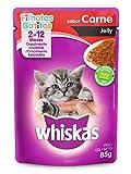 Ração Úmida Para Gatos Whiskas Sachê Carne Jelly Filhotes 85g