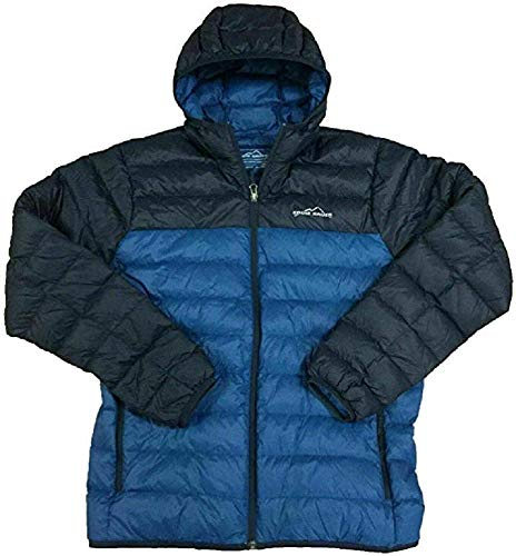 Eddie Bauer Mens Large CirrusLite Hooded Jacket True Blue