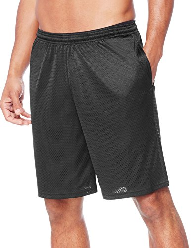 Hanes Men's Sport Mesh Pocket Short, Ebony, Medium