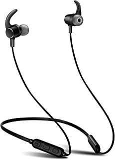 Xmate Mana Bluetooth Headphones with CSR Chipset Stereo Sound Quality, High Bass, Wireless Earphones Headset with Mic, Magnetic Attraction, Music Playtime Up to 7 Hours for All Smartphones (Black)