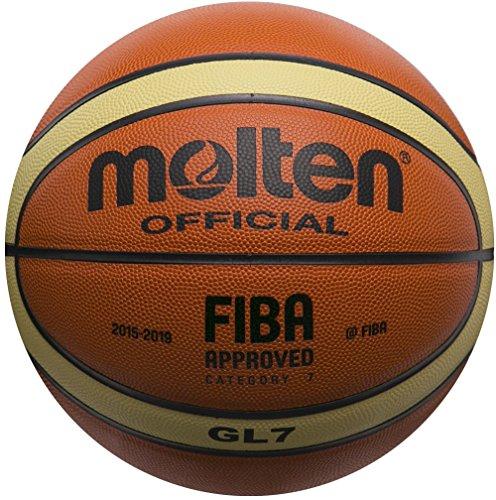 Molten - Pelota para entrenamiento de baloncesto, Color Naranja/Crema, Talla BGL7 (7)