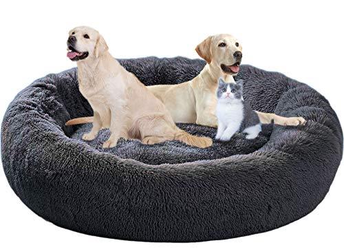 ping bu - Cojín calmante mullido para perro, cama extragrande antiansiedad para mascotas, lavable, para perros medianos, cachorros y gatos