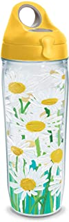 Tervis 1319688 Painted White Daises Insulated Tumbler with Wrap and Lid, 24 oz Water Bottle - Tritan, Clear