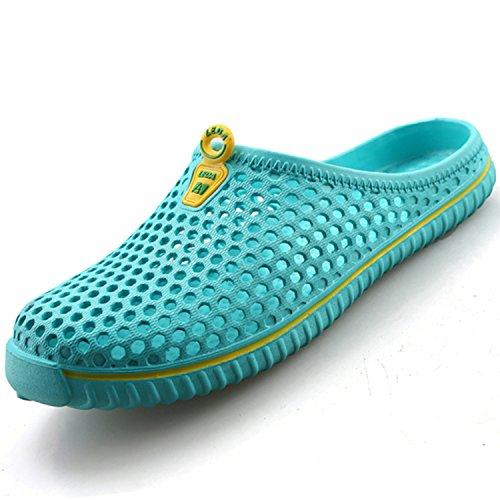 katliu Pantofole da All'Aperto Uomo Donna Sabot Ciabatte Estate Zoccoli Leggere Pantofole Scarpe Spiaggia con Fori Respiranti Pattini per Piscina Mare Casa(Blu, 36 EU)