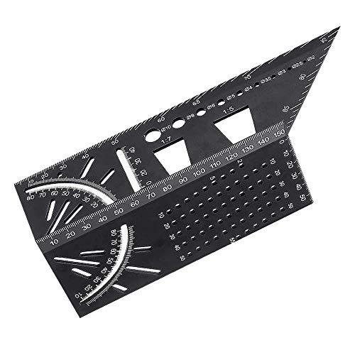 BRAVE 3次元マーク定規 3D 測定 木工用 diy 多機能 45 90度 正方形 筒状 中空 中実 アルミ合金 木 MV-3DMAJOU