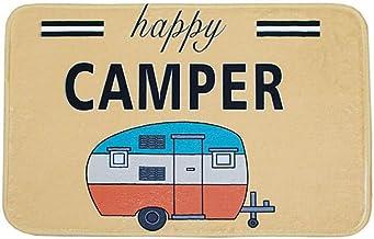 Ownest Happy Camper Camping Door Mat,Entrance Outdoor/Indoor Floor Doormat Door Non Slip Mats Bathroom Kitchen Decor Rug 4...