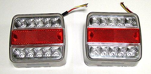 A1 2 X LED 12V RÜCKLICHT RÜCKLEUCHTEN PKW-ANHÄNGER Wohnwagen LEUCHTE Blinklicht E4 Anhänger Licht Blinklicht 4 Funktionen