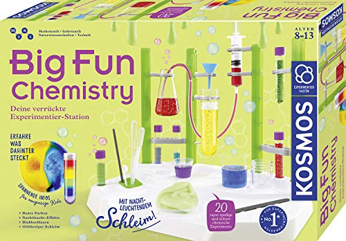 KOSMOS 642532 Big Fun Chemistry - Die verrückte Chemie-Station, Experimentierkasten