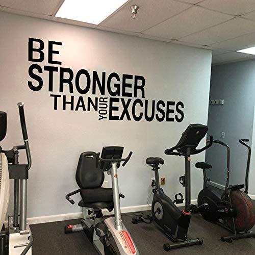 BLOUR Seien Sie stärker als Ihre Ausreden Zitat Wandaufkleber Fitnessstudio Klassenzimmer motivierend inspirierend Zitat Wandtattoo Fitness Crossfit