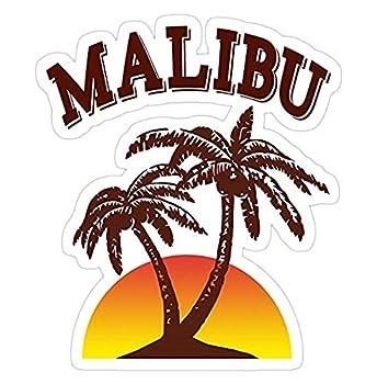 Malibu Rum Decal Sticker - Sticker Graphic - Auto Wall Laptop Cell Truck Sticker for Windows Cars Trucks
