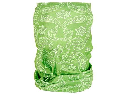 Alsino Multifunktionstuch Schlauchtuch Halstuch Multischal Multiscarf alle Farben, Variante wählen:MF-186 Paisley grün