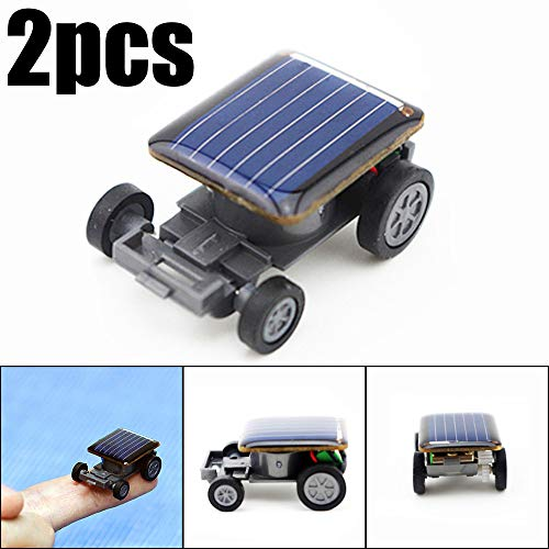 Creazy 2pcs Smallest Solar Power Mini Toy Car Racer Educational Solar Powered Toy