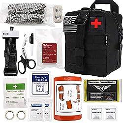 Everlit Emergency Trauma Kit with Aluminum Tourniquet 36″...