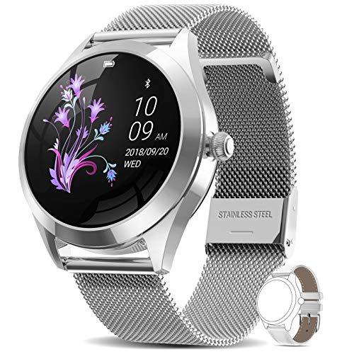AIMIUVEI Smartwatch Donna, Orologio Fitness Impermeabile IP68 Interfaccia Utente Dinamica Contapassi Cardio frequenzimetro da Polso, Activity Tracker Notifiche Messaggi, Smart Watch Android iOS