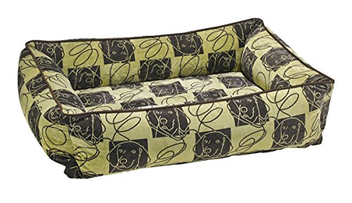 Bowsers Urban Lounger Dog Bed, Medium, Dog Days
