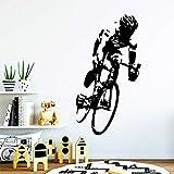 Tianpengyuanshuai Art Deco Ciclismo Pared calcomanía Fondo Pared Arte calcomanía 28X52cm