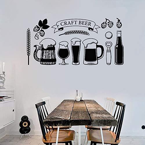 Restaurant Bar abnehmbare Aufkleber Bar Dekoration Bier Wandtattoo 58x28cm