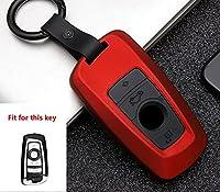 炭素繊維腹筋シリカゲル車のキーケースフルカバーbmw 520 525 f30 f10 F18 118i 320i 1357シリーズX3 X4 M3 M4 M5 E34 E36 E90-B-red