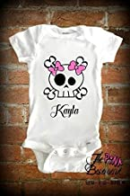 Baby Skull Goth Gothic Punk Metal Pink Clothing kids funny Unisex Boys Girls Newborn Infant Shower Gift Clothing Gifts Personalized Jumper Jumpsuit Bodysuit One piece Pajamas One-piece Romper