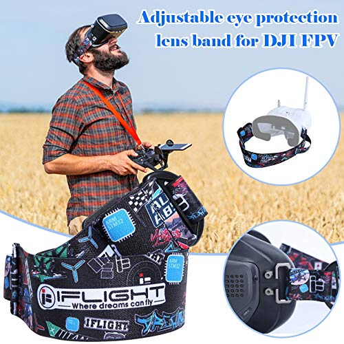 DJFEI Lanyard für DJI FPV Combo Drone Fernbedienung, Einstellbarer Smart Controller Lanyard Umhängeband Controller Aufhängegurt für DJI FPV Combo Drone (B)
