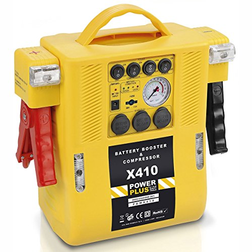 PowerPlus powx410 – Starter di batterie multifunzione 4 in 1, 12 V)