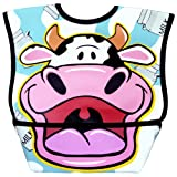 Dexbaby Big Mouth Cow Leak-Proof Dura Bib w/ Catch-All Pocket - Large   6 months +