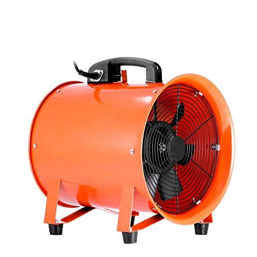 Ambesten 10 Zoll Gebläse Lüfter Industrie Extraktor Tragbarer Ventilator 3300 R/Min Luft Axial Metall Gebläse Kommerzieller Auspuff Werkstatt Ventilation Lüfter (10 Zoll)