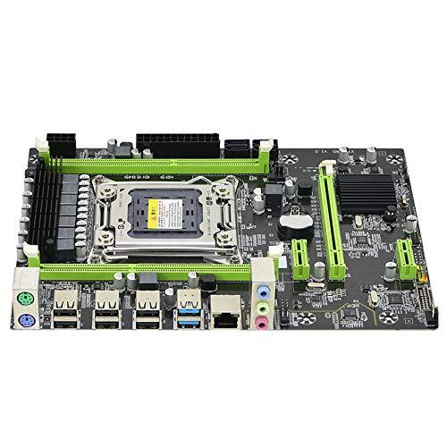 Mogzank Placa Base X79 LGA 2011 DDR3 Compatible con Memoria 32G Compatible con E52680 para Procesador LGA 2011 Xeon