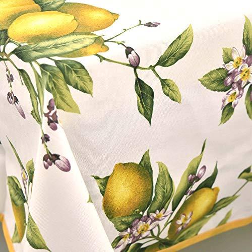 Tischdecke Panama Zitronen aus Positano - gelb, Rechteckige x8