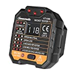 DEWENWILS Outlet Tester 48-250V,GFCI Receptacles Tester, Electrical AC Socket with LCD Voltage Display, CAT ll 300V, 7 Visual Indication Wiring Legend,Home & Professional Use