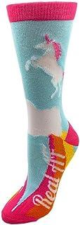 Unicornios Talla única Se adapta a la mayoría de los calcetines azul marino para mujer