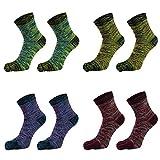 POHOVE - Calcetines para hombre, estilo casual, para correr y negocios, con cinco dedos,...